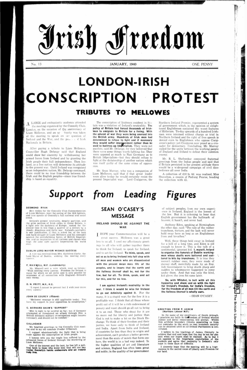 liam oflaherty and the anglo irish war essay Irish republican army and the anglo-irish treaty the irish republican army was a guerrilla army that fought the irish war of it elected liam lynch as.